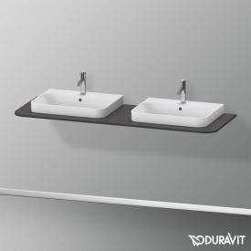 Duravit Happy D.2 Plus Konsole für 2 Aufsatz-/Einbauwaschtische graphit supermatt