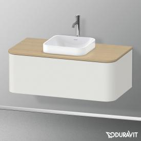 Duravit Happy D.2 Plus LED-Waschtischunterschrank für Konsole mit 1 Auszug Front nordic weiß seidenmatt / Korpus nordic weiß seidenmatt, ohne Einrichtungssystem