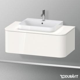 Duravit Happy D.2 Plus LED-Waschtischunterschrank für Konsole mit 1 Auszug Front weiß hochglanz / Korpus weiß hochglanz, ohne Einrichtungssystem