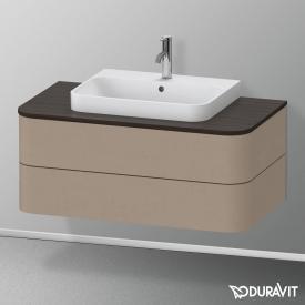 Duravit Happy D.2 Plus LED-Waschtischunterschrank für Konsole mit 2 Auszügen Front leinen / Korpus leinen, ohne Einrichtungssystem