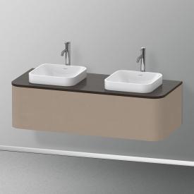 Duravit Happy D.2 Plus LED-Waschtischunterschrank für Konsole mit 1 Auszug Front leinen / Korpus leinen, ohne Einrichtungssystem