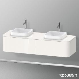 Duravit Happy D.2 Plus LED-Waschtischunterschrank für Konsole mit 2 Auszügen Front weiß hochglanz / Korpus weiß hochglanz, ohne Einrichtungssystem