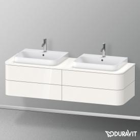 Duravit Happy D.2 Plus LED-Waschtischunterschrank für Konsole mit 4 Auszügen Front weiß hochglanz / Korpus weiß hochglanz, ohne Einrichtungssystem