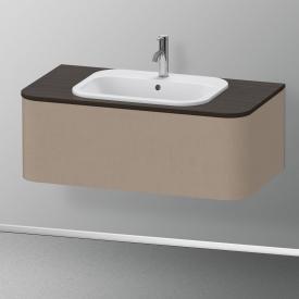 Duravit Happy D.2 Plus Waschtischunterschrank für Konsole mit 1 Auszug Front leinen / Korpus leinen, ohne Einrichtungssystem