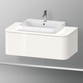 Duravit Happy D.2 Plus Waschtischunterschrank für Konsole mit 1 Auszug Front weiß hochglanz / Korpus weiß hochglanz, ohne Einrichtungssystem
