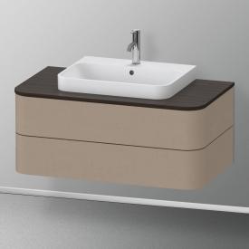 Duravit Happy D.2 Plus Waschtischunterschrank für Konsole mit 2 Auszügen Front leinen / Korpus leinen, ohne Einrichtungssystem