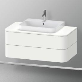 Duravit Happy D.2 Plus Waschtischunterschrank für Konsole mit 2 Auszügen Front weiß seidenmatt / Korpus weiß seidenmatt, mit Einrichtungssystem Ahorn