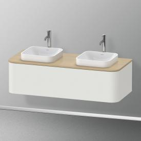 Duravit Happy D.2 Plus Waschtischunterschrank für Konsole mit 1 Auszug Front nordic weiß seidenmatt / Korpus nordic weiß seidenmatt, ohne Einrichtungssystem