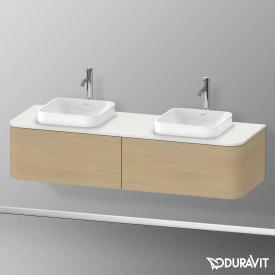 Duravit Happy D.2 Plus Waschtischunterschrank für Konsole mit 2 Auszügen Front mediterrane eiche / Korpus mediterrane eiche, mit Einrichtungssystem Ahorn