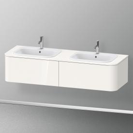 Duravit Happy D.2 Plus Waschtischunterschrank für Konsole mit 2 Auszügen Front weiß hochglanz / Korpus weiß hochglanz, ohne Einrichtungssystem