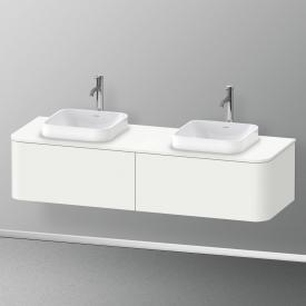 Duravit Happy D.2 Plus Waschtischunterschrank für Konsole mit 2 Auszügen Front weiß seidenmatt / Korpus weiß seidenmatt, ohne Einrichtungssystem