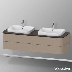 Duravit Happy D.2 Plus Waschtischunterschrank für Konsole mit 4 Auszügen Front leinen / Korpus leinen, ohne Einrichtungssystem
