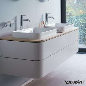 Duravit Happy D.2 Plus Waschtischunterschrank für Konsole mit 4 Auszügen Front nordic weiß seidenmatt / Korpus nordic weiß seidenmatt, ohne Einrichtungssystem