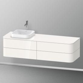 Duravit Happy D.2 Plus Waschtischunterschrank für Konsole mit 4 Auszügen Front weiß hochglanz / Korpus weiß hochglanz, ohne Einrichtungssystem