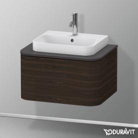 Duravit Happy D.2 Plus Waschtischunterschrank für Konsole mit 1 Auszug Front nussbaum gebürstet / Korpus nussbaum gebürstet, ohne Einrichtungssystem