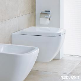Duravit Happy D.2 Wand-Tiefspül-WC ohne Spülrand, weiß, mit WonderGliss