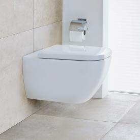 Duravit Happy D.2 Wand-Tiefspül-WC mit WC-Sitz, ohne Spülrand weiß, mit WonderGliss