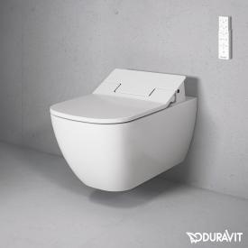 Duravit Happy D.2 Wand-Tiefspül-WC Rimless mit NEUEM SensoWash® Slim WC-Sitz, Set weiß mit WonderGliss