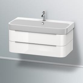 Duravit Happy D.2 Waschtisch mit Waschtischunterschrank mit 2 Auszügen weiß, mit 1 Hahnloch
