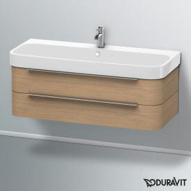 Duravit Happy D.2 Waschtischunterschrank mit 2 Auszügen Front europäische eiche / Korpus europäische eiche, ohne Einrichtungssystem