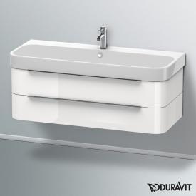 Duravit Happy D.2 Waschtischunterschrank mit 2 Auszügen Front weiß hochglanz / Korpus weiß hochglanz, ohne Einrichtungssystem