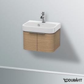 Duravit Happy D.2 Waschtischunterschrank mit 2 Türen Front europäische eiche / Korpus europäische eiche