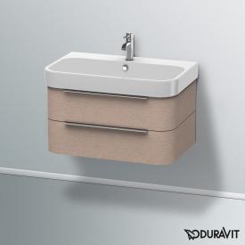 Duravit Happy D.2 Waschtischunterschrank mit 2 Auszügen Front eiche kaschmir / Korpus eiche kaschmir, ohne Einrichtungssystem