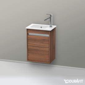Duravit Ketho Handwaschbeckenunterschrank mit 1 Tür Front nussbaum natur / Korpus nussbaum natur
