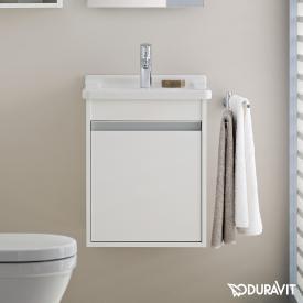 Duravit Ketho Handwaschbeckenunterschrank mit 1 Tür Front weiß matt / Korpus weiß matt