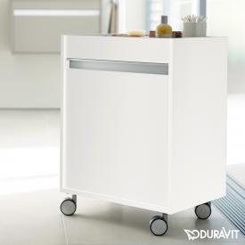 Duravit Ketho Rollcontainer mit 1 Tür Front weiß matt / Korpus weiß matt