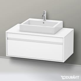 Duravit Ketho Waschtischunterschrank mit 1 Auszug ohne Ausschnitt Front weiß matt / Korpus weiß matt