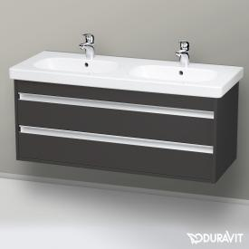 Duravit Ketho Waschtischunterschrank mit 2 Auszügen für Doppelwaschtisch Front graphit matt / Korpus graphit matt