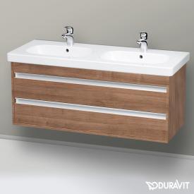 Duravit Ketho Waschtischunterschrank mit 2 Auszügen für Doppelwaschtisch Front tessiner kirschbaum / Korpus tessiner kirschbaum