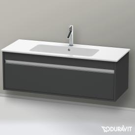 Duravit Ketho Waschtischunterschrank mit 1 Auszug Front graphit matt / Korpus graphit matt