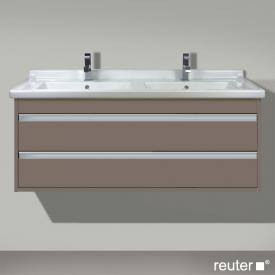 Duravit Ketho Waschtischunterschrank mit 2 Auszügen für Doppelwaschtisch Front basalt matt / Korpus basalt matt