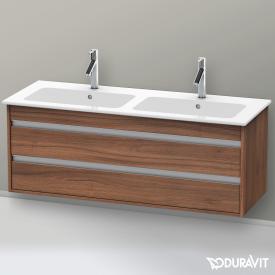 Duravit Ketho Waschtischunterschrank mit 2 Auszügen für Doppelwaschtisch Front nussbaum natur / Korpus nussbaum natur