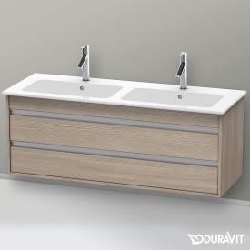 Duravit Ketho Waschtischunterschrank mit 2 Auszügen für Doppelwaschtisch Front pine silver / Korpus pine silver