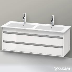 Duravit Ketho Waschtischunterschrank mit 2 Auszügen für Doppelwaschtisch Front weiß hochglanz / Korpus weiß hochglanz
