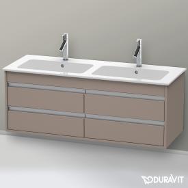 Duravit Ketho Waschtischunterschrank mit 4 Auszügen für Doppelwaschtisch Front basalt matt / Korpus basalt matt