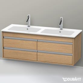 Duravit Ketho Waschtischunterschrank mit 4 Auszügen für Doppelwaschtisch Front europäische eiche / Korpus europäische eiche
