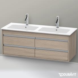 Duravit Ketho Waschtischunterschrank mit 4 Auszügen für Doppelwaschtisch Front pine silver / Korpus pine silver