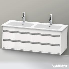 Duravit Ketho Waschtischunterschrank mit 4 Auszügen für Doppelwaschtisch Front weiß hochglanz / Korpus weiß hochglanz