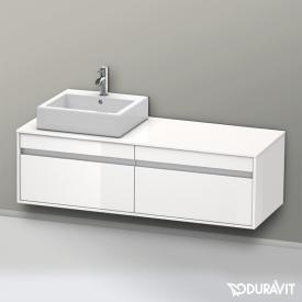Duravit Ketho Waschtischunterschrank mit 2 Auszügen Front weiß hochglanz / Korpus weiß hochglanz
