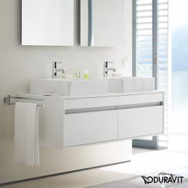 Duravit Ketho Waschtischunterschrank mit 2 Auszügen für 2 Aufsatzwaschtische Front weiß matt / Korpus weiß matt
