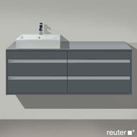 Duravit Ketho Waschtischunterschrank mit  4 Auszügen Front graphit matt / Korpus graphit matt