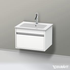 Duravit Ketho Waschtischunterschrank mit 1 Auszug Front weiß matt / Korpus weiß matt