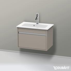 Duravit Ketho Waschtischunterschrank Compact mit 1 Auszug Front terra / Korpus terra