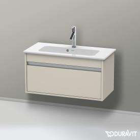 Duravit Ketho Waschtischunterschrank Compact mit 1 Auszug Front taupe matt / Korpus taupe matt