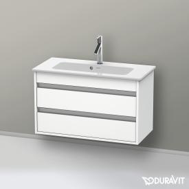 Duravit Ketho Waschtischunterschrank Compact mit 2 Auszügen Front weiß matt / Korpus weiß matt