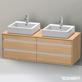 Duravit Ketho Waschtischunterschrank mit 4 Auszügen für 2 Aufsatzwaschtische Front europäische eiche / Korpus europäische eiche
